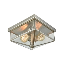 Thomas CE9202365 - Lankford 2 Light Outdoor Flush In Satin Nickel W