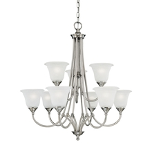 Thomas SL880241 - HARMONY chandelier Satin Pewter 9x60W