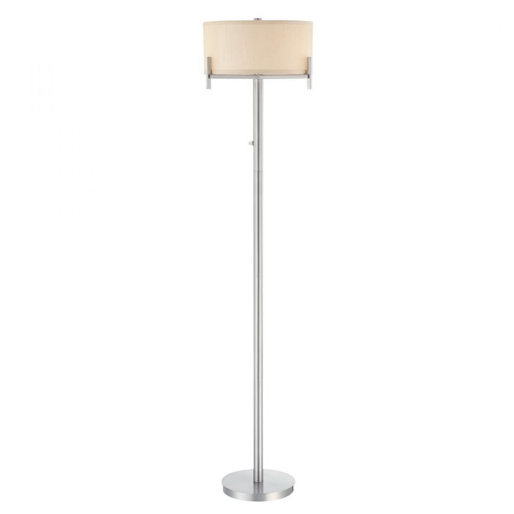 Inland Lighting in Yakima, Washington, United States, Dolan Designs 9C7F, Satin Nickel Floor Lamp,