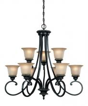Dolan Designs 1752-148 - 9Lt 2 Tier Chandelier