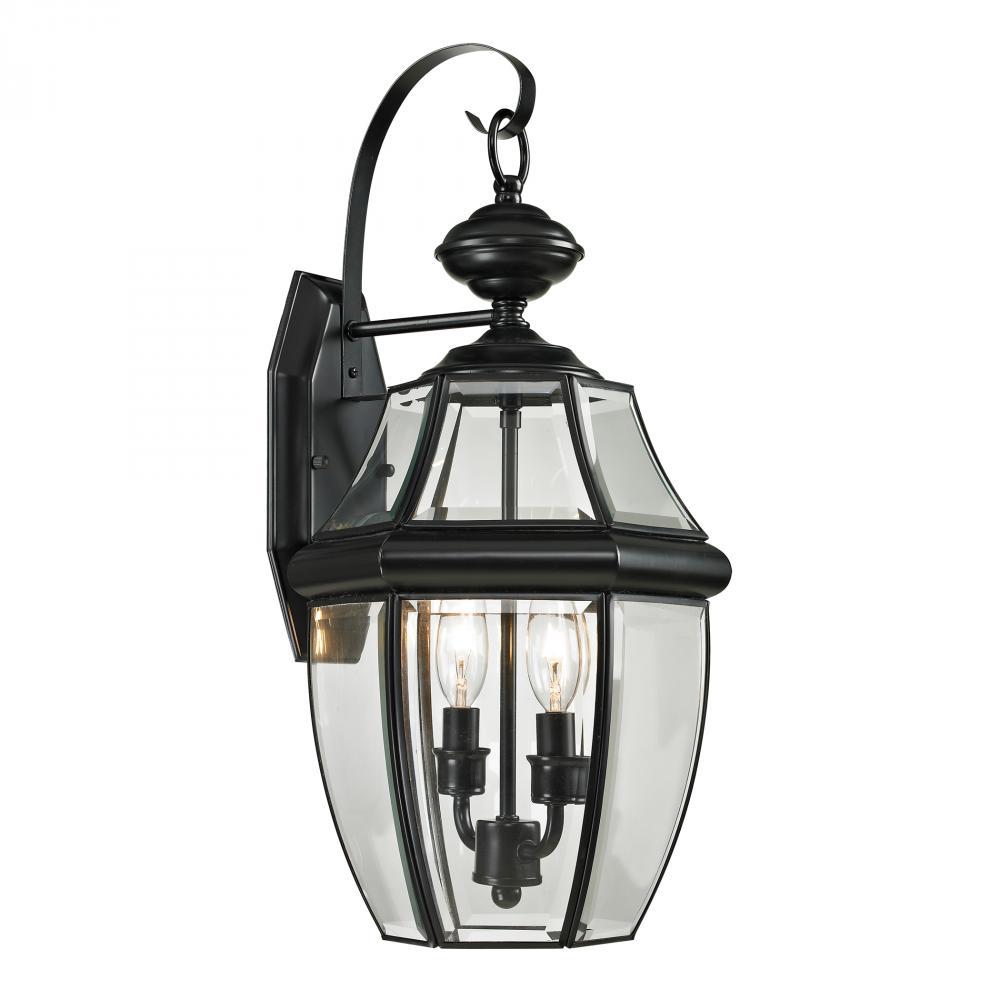 Ashford 2 Light Exterior Coach Lantern In Black 3013FUG Inland Lighting