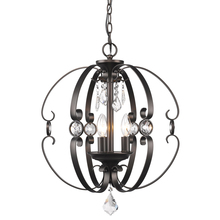 Golden 1323-3P EBB - 3 Light Pendant