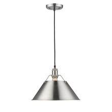 Golden 3306-L PW-PW - 1 Light Pendant - 14""