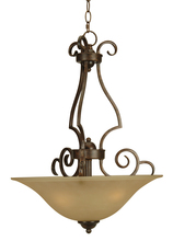 Jeremiah 7118PR3 - Cecilia 3 Light Inverted Pendant in Peruvian Bronze