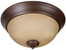"Jeremiah XP11AG-2A - Pro Builder 2 Light 11"" Flushmount in Aged Bronze Textured"