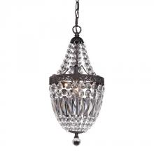 Sterling Industries 122-026 - Morley Mini Chandelier In Dark Bronze And Clear