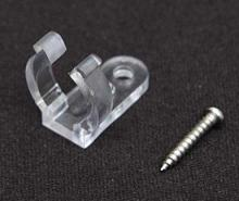 "American Lighting RL-CLIP/SCREW - PLASTIC MOUNTING CLIP FOR 1/2"" ROPE LT,CLEAR,U-SHAPE"
