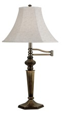 Kenroy Home 20616GBRZ - Swing Arm Table Lamp