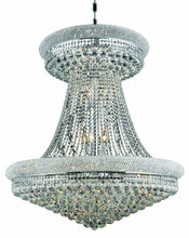 Elegant V1800G36SC/RC - 1800 Primo Collection Chandelier D:36in H:45in Lt:28 Chrome Finish (Royal Cut Crystals)