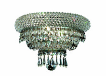 Elegant V1803W12C/RC - 1803 Primo Collection Wall Sconce D:12in H:8in E:7in Lt:2 Chrome Finish (Royal Cut Crystals)