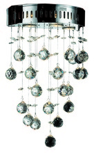 Elegant V2006W12C/RC - 2006 Galaxy Collection Wall Sconce D:12in H:17in E:7in Lt:3 Chrome Finish (Royal Cut Crystals)