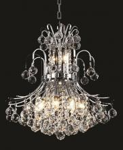 Elegant V8001D19C/RC - 8001 Toureg Collection Pendant D:19in H:23in Lt:10 Chrome Finish (Royal Cut Crystals)