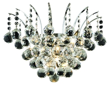 Elegant V8031W16C/RC - 8031 Victoria Collection Wall Sconce D:16in H:13in E:8in Lt:3 Chrome Finish (Royal Cut Crystals)