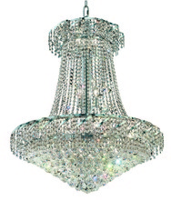 Elegant VECA1D30C/RC - Belenus Collection Chandelier D:30in H:38in Lt:18 Chrome Finish (Royal Cut Crystals)