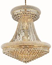 Elegant V1800G36SG/EC - 1800 Primo Collection Chandelier D:36in H:45in Lt:28 Gold Finish (Elegant Cut Crystals)