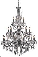 Elegant V2015G36DB/RC - 2015 St. Francis Collection Chandelier D:36in H:49in Lt:24 Dark Bronze Finish (Royal Cut Crystals)
