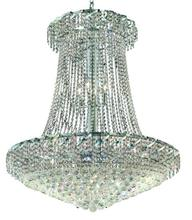 Elegant VECA1G36SC/RC - Belenus Collection Chandelier D:36in H:42in Lt:22 Chrome Finish (Royal Cut Crystals)