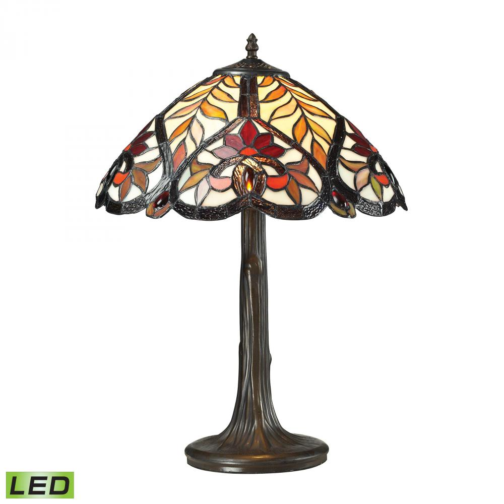 Inland Lighting in Yakima, Washington, United States, Dimond 6XRGQ, Brimford 1 Light LED Table Lamp In Dark Bronze, Brimford