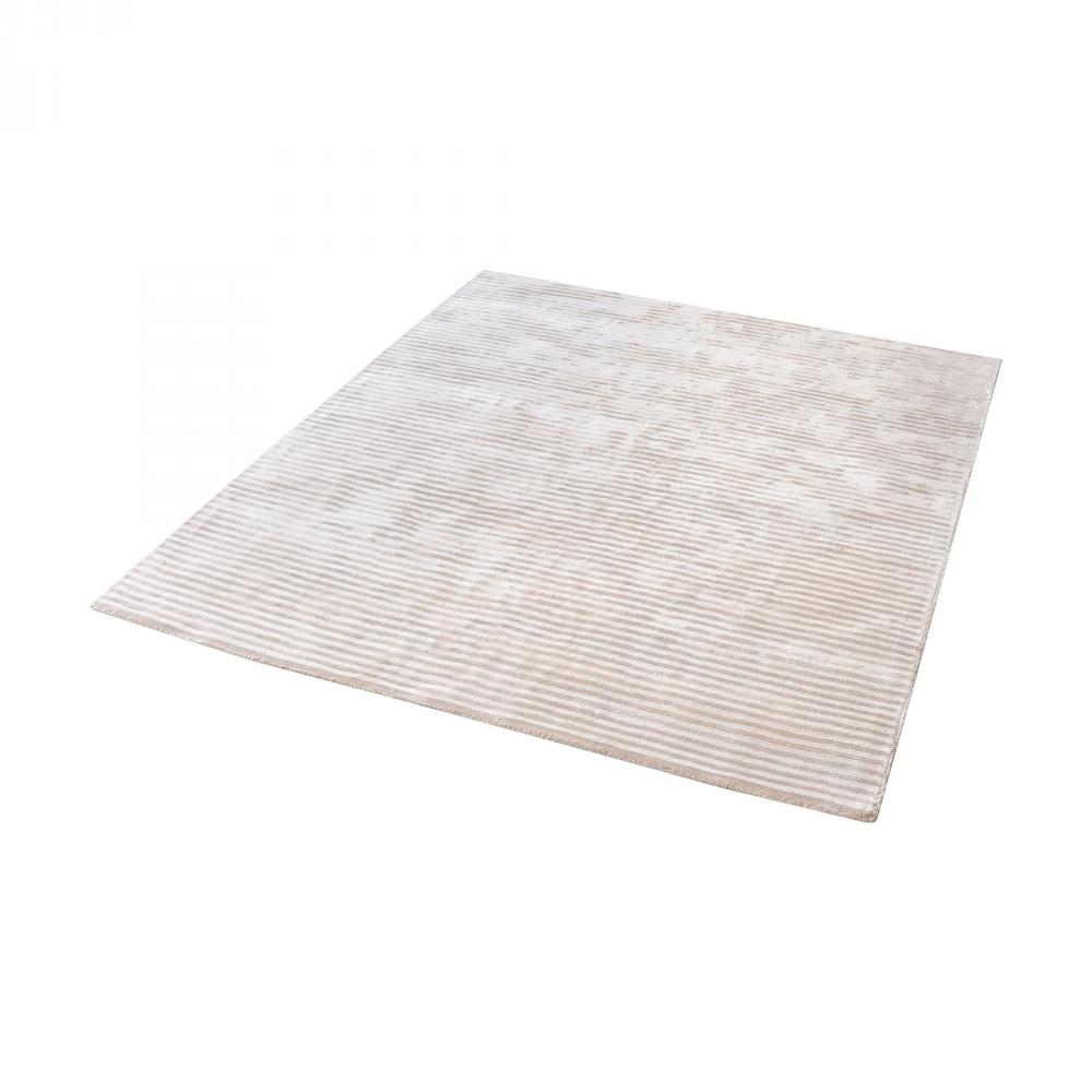Logan Handwoven Viscose Rug In Ivory - 16-Inch S