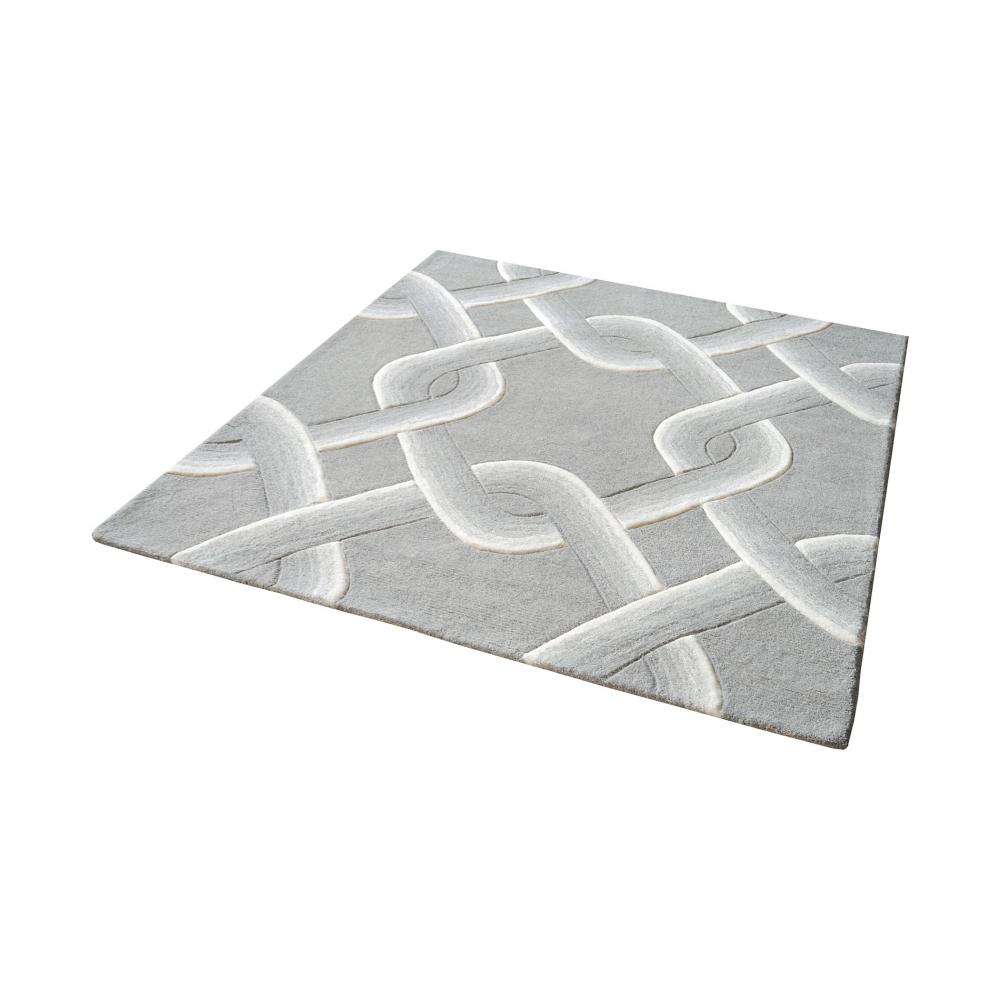 Inland Lighting in Yakima, Washington, United States, Dimond 76XEL, Desna Handtufted Wool Rug In Grey - 16-Inch Squa, Desna