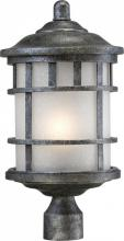 Nuvo 60/5735 - Manor 1 LT Outdoor Post Fixture w/ Frosted Seed Glass - Aged Silver