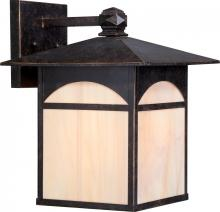 Nuvo 60/5753 - Canyon 1 LT 11 Outdoor Wall Fixture w/ Honey Stained Glass - Umber Bronze