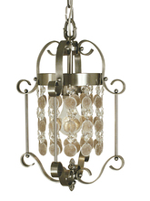 Framburg 2921 BN - 1-Light Brushed Nickel Naomi Mini Chandelier
