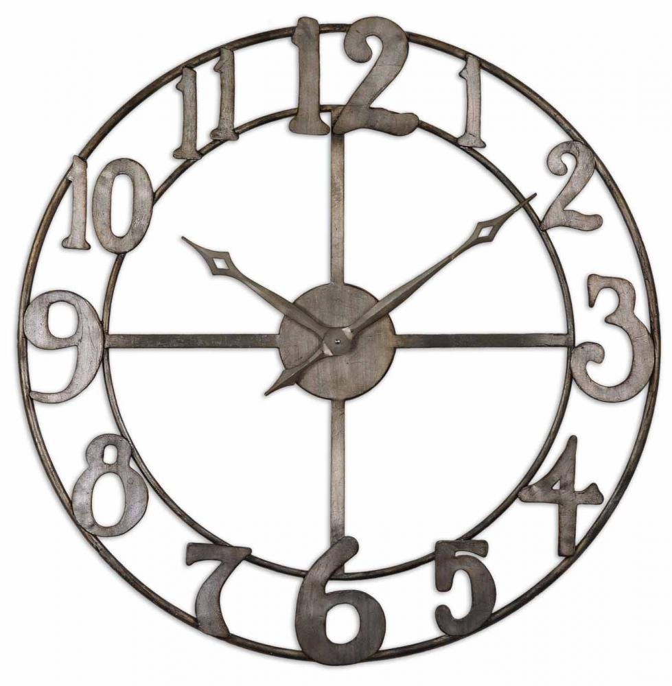 "Inland Lighting in Yakima, Washington, United States, Uttermost 9PYT4, Uttermost Delevan 32"" Metal Wall Clock, Delevan"