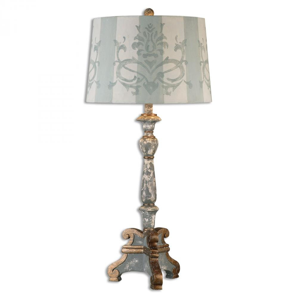 Uttermost Trimonte Aged Gray Table Lamp 9PNZ1 Inland Lighting