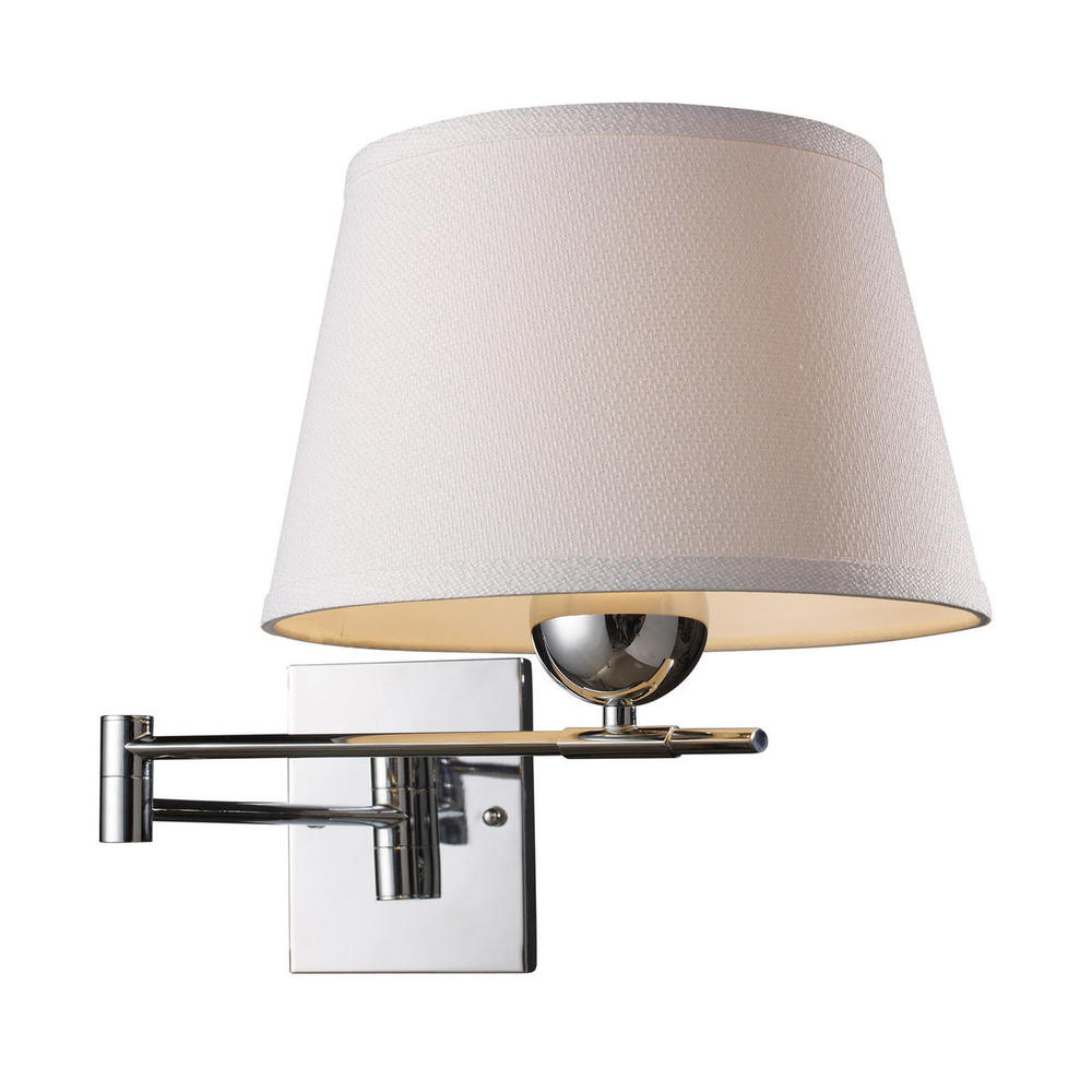 Inland Lighting in Yakima, Washington, United States, ELK Lighting 8VDX, Lanza 1 Light Swing Arm Sconce In Polished Chrom, Lanza