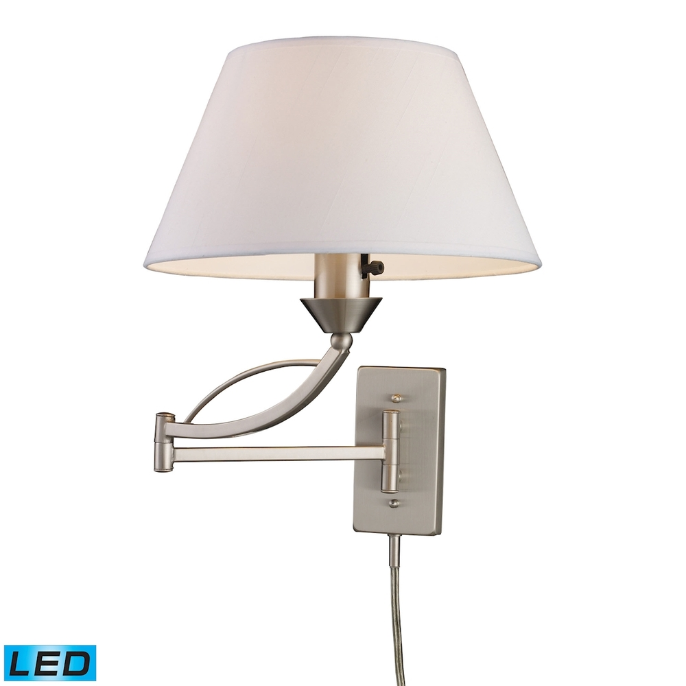 Inland Lighting in Yakima, Washington, United States, ELK Lighting K67K, Elysburg 1 Light LED Swingarm Sconce In Satin Ni, Elysburg