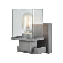ELK Lighting 11940/1 - Hotelier 1 Light Vanity In Weathered Zinc With C