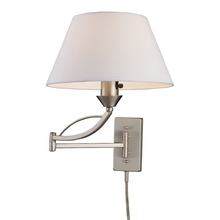 ELK Lighting 17016/1 - Elysburg 1 Light Swingarm Sconce In Satin Nickel