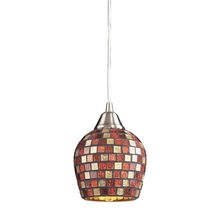 ELK Lighting 528-1MLT-LED - Fusion 1 Light LED Pendant In Satin Nickel And M