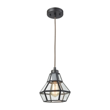 ELK Lighting 57125/1 - Window Pane 1 Light Pendant In Oil Rubbed Bronze