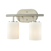 ELK Lighting 57131/2 - Pemlico 2 Light Vanity In Satin Nickel With Whit