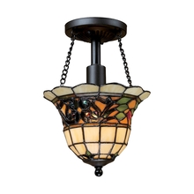 ELK Lighting 70021-1 - Tiffany Buckingham 1 Light Semi Flush In Vintage