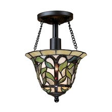 ELK Lighting 70114-1 - Latham 1 Light Semi Flush In Tiffany Bronze
