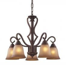 ELK Lighting 9327/5 - Lawrenceville 5 Light Chandelier In Mocha With A